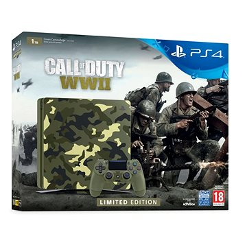 PlayStation 4 1TB Slim - Call of Duty: WWII Limited Edition (PS719943167) + ZDARMA Hra pro konzoli WipEout: Omega Collection - PS4 Časopis PlayStation Magazín