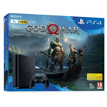 PlayStation 4 1TB Slim + God Of War (PS719384878) + ZDARMA Klíčenka God of War - Klíčenka