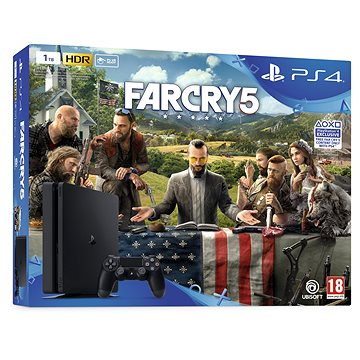 PlayStation 4 1TB Slim + Far Cry 5 (PS719377672) + ZDARMA Hra pro konzoli God Of War - PS4