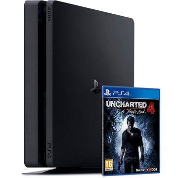 Sony PlayStation 4 - 500 GB Slim + Uncharted 4: Thief´s End