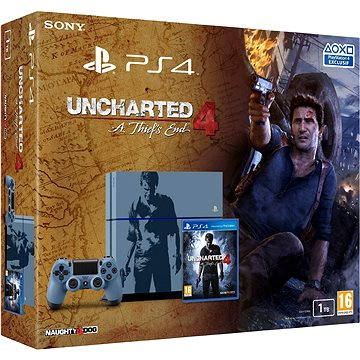 Sony Playstation 4 - 1TB Uncharted 4 Limited Edition (PS719804451) + ZDARMA Hra pro konzoli God of War III Remaster Anniversary Edition - PS4 Bezdrátový ovladač Sony PS4 DualShock 4 (Black)