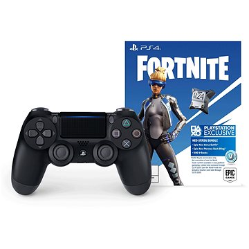 Sony PS4 Dualshock 4 V2 - Black + Fortnite (PS719950103)