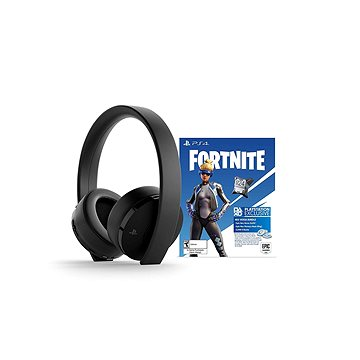 Sony PS4 Gold Wireless Headset Black + Fortnite (PS719959809)