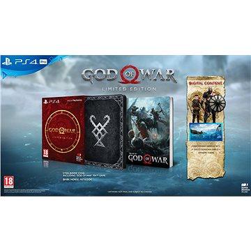 God Of War Limited Edition - PS4 (PS719368977) + ZDARMA Klíčenka God of War - Klíčenka Herní doplněk - Dárek pro předobjednávky - set 3 štítů God Of War