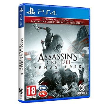 Assassins Creed 3 + Liberation Remaster - PS4 (3307216111658)