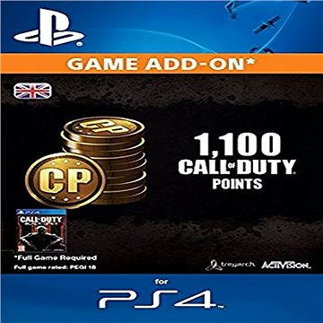 1.000 (+100 Bonus) Call of Duty Points - PS4 CZ Digital (SCEE-XX-S0023007)