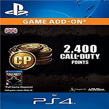 2.000 (+400 Bonus) Call of Duty Points - PS4 CZ Digital (SCEE-XX-S0022967)