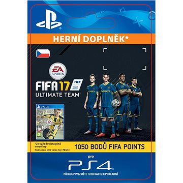 1050 FIFA 17 Points Pack - PS4 CZ Digital (SCEE-XX-S0026668)