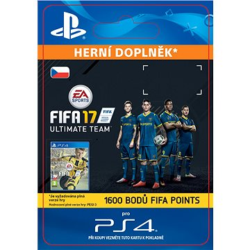 1600 FIFA 17 Points Pack - PS4 CZ Digital (SCEE-XX-S0026708)