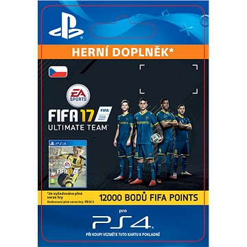 12000 FIFA 17 Points Pack - PS4 CZ Digital (SCEE-XX-S0026544)