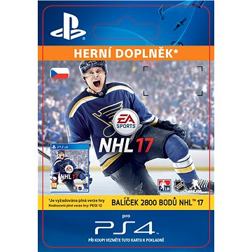 2800 NHL 17 Points Pack - PS4 CZ Digital (SCEE-XX-S0026886)