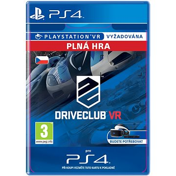 DRIVECLUB VR - PS4 CZ Digital (SCEE-XX-S0027129)