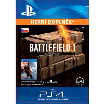 Battlefield 1 Battlepacks x 3 - PS4 CZ Digital (SCEE-XX-S0028315)