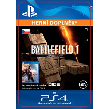 Battlefield 1 Battlepacks x 5 - PS4 CZ Digital (SCEE-XX-S0028225)