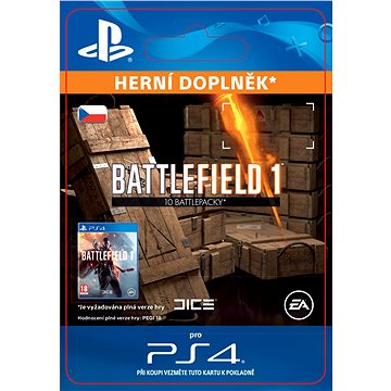 Battlefield 1 Battlepacks x 10 - PS4 CZ Digital (SCEE-XX-S0028283)