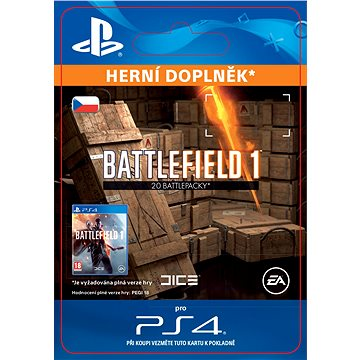 Battlefield 1 Battlepacks x 20 - PS4 CZ Digital (SCEE-XX-S0028254)