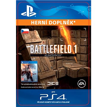 Battlefield 1 Battlepacks x 40 - PS4 CZ Digital (SCEE-XX-S0029438)