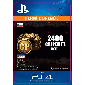 2,000 (+400 Bonus) Call of Duty Points - SK PS4 Digital (SCEE-XX-S0022981)