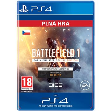 Battlefield 1 Early Enlister Deluxe Edition- SK PS4 Digital (SCEE-XX-S0025803)