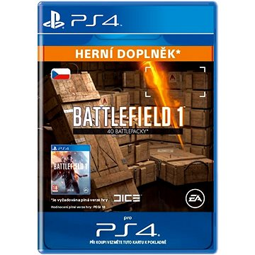 Battlefield 1 Battlepacks x 40- SK PS4 Digital (SCEE-XX-S0029454)