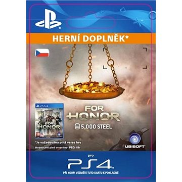 FOR HONOR 5 000 STEEL Credits Pack - PS4 CZ Digital (SCEE-XX-S0031233)