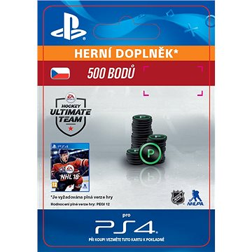 500 NHL 18 Points Pack - PS4 CZ Digital (SCEE-XX-S0033434)