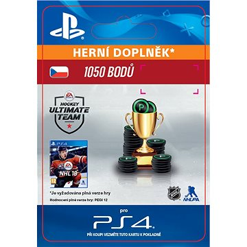 1050 NHL 18 Points Pack - PS4 CZ Digital (SCEE-XX-S0033306)