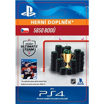 5850 NHL 18 Points Pack - PS4 CZ Digital (SCEE-XX-S0033501)