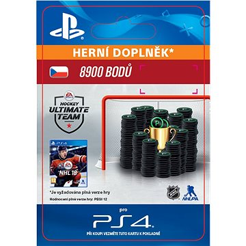 8900 NHL 18 Points Pack - PS4 CZ Digital (SCEE-XX-S0033418)