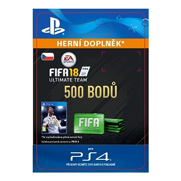 500 FIFA 18 Points Pack - PS4 CZ Digital (SCEE-XX-S0033256)