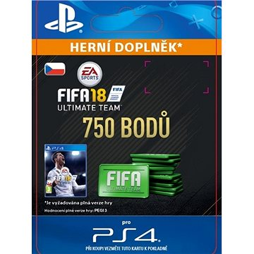 750 FIFA 18 Points Pack - PS4 CZ Digital (SCEE-XX-S0033216)