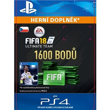 1600 FIFA 18 Points Pack - PS4 CZ Digital (SCEE-XX-S0033174)