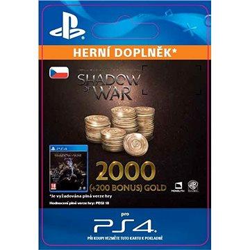 Shadow of War - 2,200 Gold - PS4 CZ Digital (SCEE-XX-S0033946)