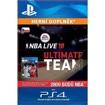 NBA Live 18 Ultimate Team - 2800 NBA points - PS4 CZ Digital (SCEE-XX-S0034432)
