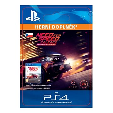 Need for Speed Payback - Deluxe Edition Upgrade - PS4 CZ Digital (SCEE-XX-S0035362)