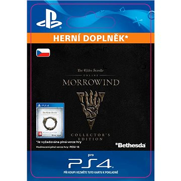 The Elder Scrolls Online: Morrowind Collectors Edition Upgrade - PS4 CZ Digital (SCEE-XX-S0031094)