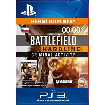 Battlefield Hardline Criminal Activity - PS3 CZ Digital (SCEE-XX-S0020165)