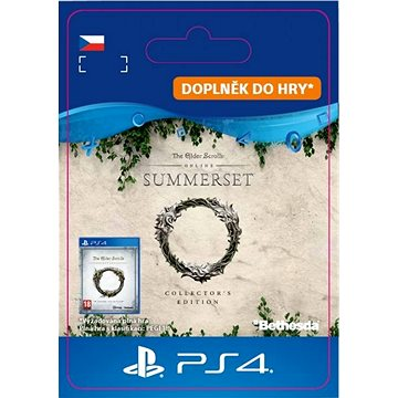 The Elder Scrolls Online: Summerset Collector's Ed. Upgrade - PS4 CZ Digital (SCEE-XX-S0038286)