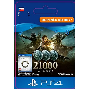 The Elder Scrolls Online: 21000 Crowns - PS4 CZ Digital (SCEE-XX-S0038403)