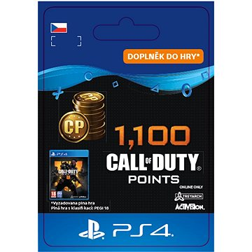 1,100 Call of Duty: Black Ops 4 Points - PS4 CZ Digital (SCEE-XX-S0041962)