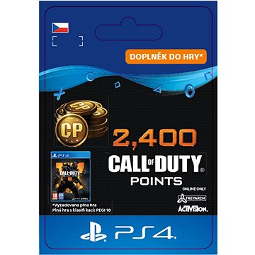 2,400 Call of Duty: Black Ops 4 Points - PS4 CZ Digital (SCEE-XX-S0041999)
