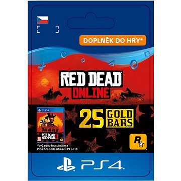 Red Dead Redemption 2: 25 Gold Bars - PS4 CZ Digital (SCEE-XX-S0045178)