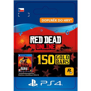 Red Dead Redemption 2: 150 Gold Bars - PS4 CZ Digital (SCEE-XX-S0045186)