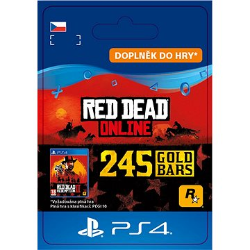 Red Dead Redemption 2: 245 Gold Bars - PS4 CZ Digital (SCEE-XX-S0045323)