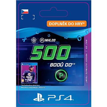 NHL 20 ULTIMATE TEAM NHL POINTS 500 - PS4 CZ Digital (SCEE-XX-S0046260)
