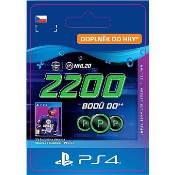 NHL 20 ULTIMATE TEAM NHL POINTS 2200 - PS4 CZ Digital (SCEE-XX-S0046294)