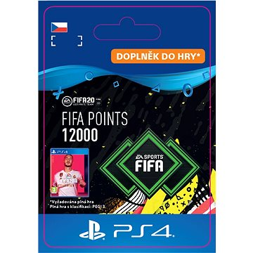 FIFA 20 ULTIMATE TEAM™ 12000 POINTS - PS4 CZ Digital (SCEE-XX-S0045646)