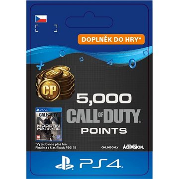 Call of Duty: Modern Warfare Points - 5,000 Points - PS4 CZ Digital (SCEE-XX-S0047777)