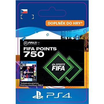 FIFA 21 ULTIMATE TEAM 750 POINTS - PS4 CZ Digital (SCEE-XX-S0049912)