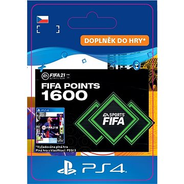 FIFA 21 ULTIMATE TEAM 1600 POINTS - PS4 CZ Digital (SCEE-XX-S0049810)